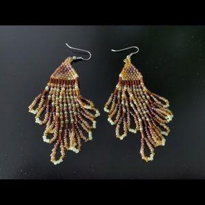 Francesca Yellow statement earrings